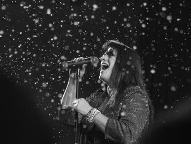 Sarah Singing at Winterfest