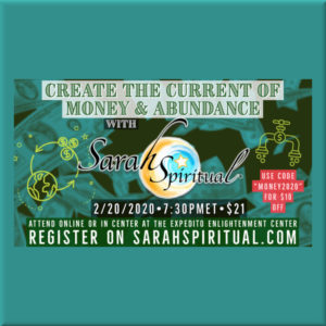 SarahSpiritual Create the Current of Money and Abundance